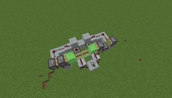 《我的世界》简单省料的全自动刷铁轨机教程