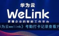 welink怎么看考勤记录_华
