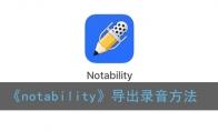 notability如何导出来声频