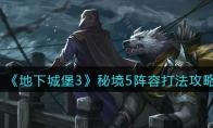 《地下城堡3:魂之诗》密境5主力阵容玩法攻略大全