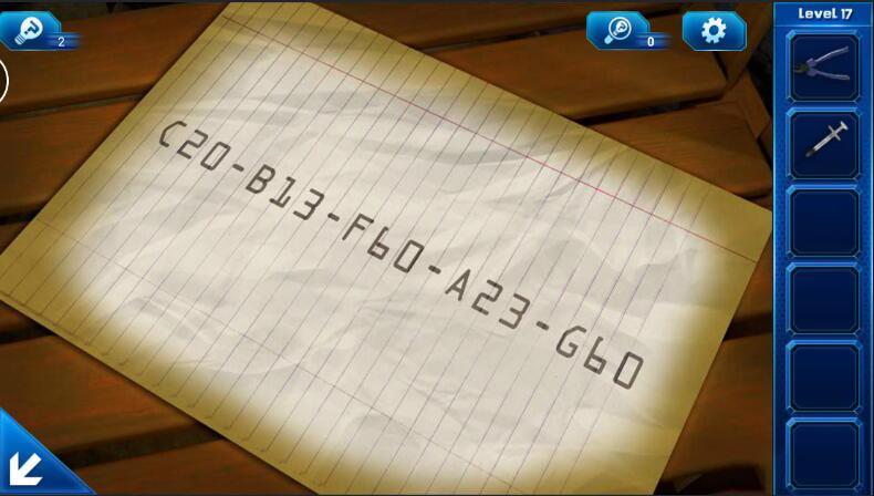 《密室逃脱9:逃出太空船》第17关攻略