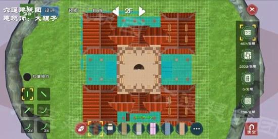 《创造与魔法》郁金香书苑建筑制作教学 郁金香书苑建筑平面设计图纸