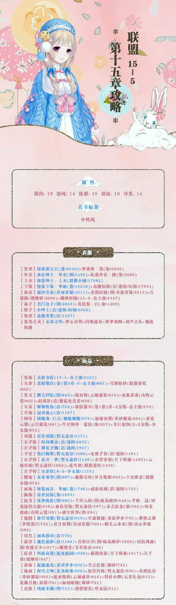 《奇迹暖暖》【联盟委托】15-5攻略