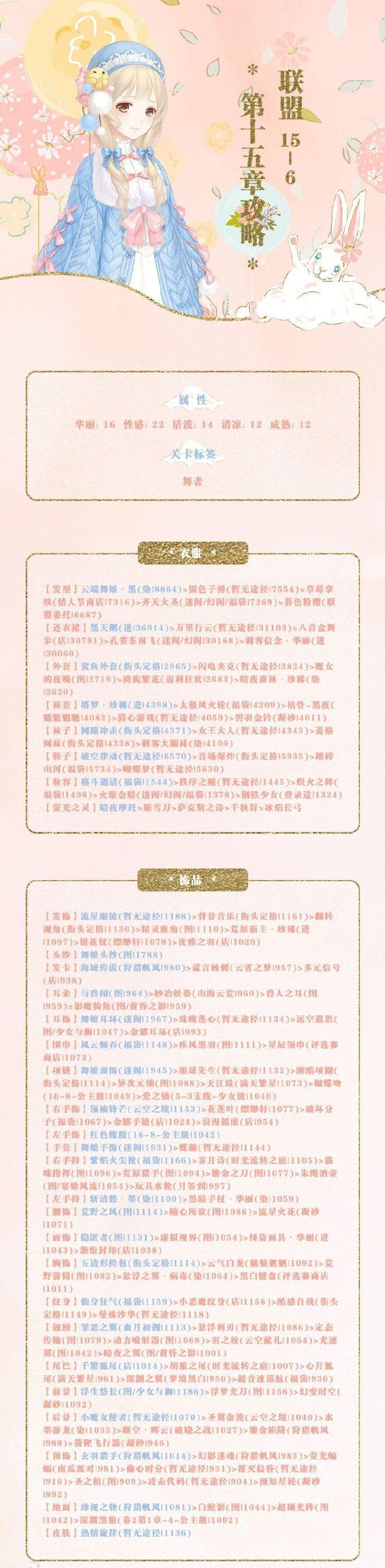 《奇迹暖暖》【联盟委托】15-6攻略