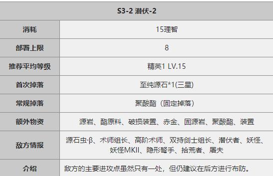 《明日方舟》S3-2关卡攻略