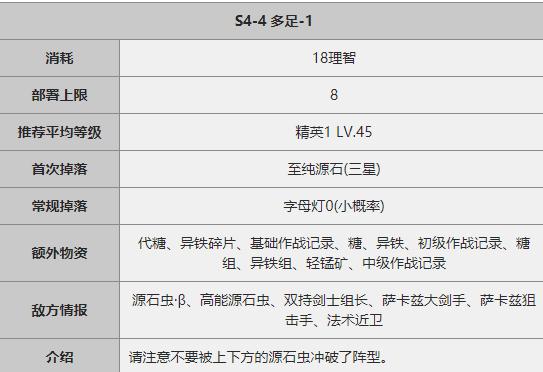 《明日方舟》S4-4关卡攻略