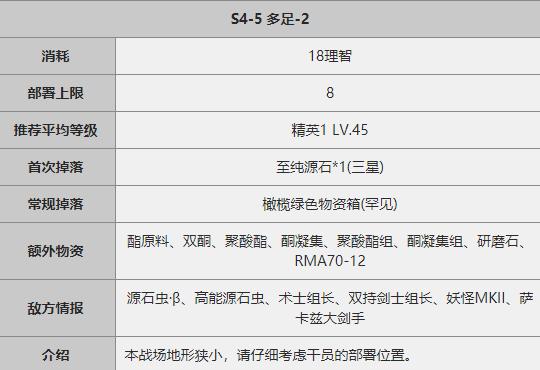 《明日方舟》S4-5关卡攻略