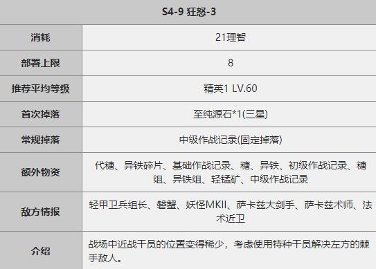 《明日方舟》S4-9关卡攻略