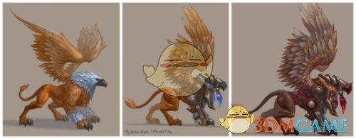 《魔法门之英雄无敌:王朝》狮鹫形象曝光