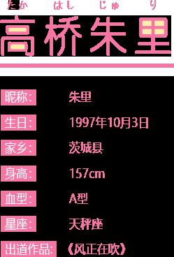 《AKB48樱桃湾之夏》偶像图鉴介绍—高桥朱里