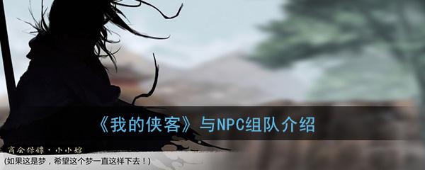 《我的侠客》与NPC组队方法介绍