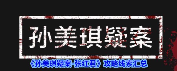 《孙美琪疑案-张红君》攻略线索汇总