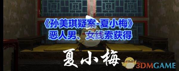 《孙美琪疑案-夏小梅》恶人男、女线索获得