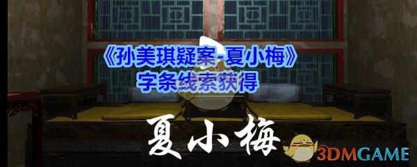 《孙美琪疑案-夏小梅》字条线索获得