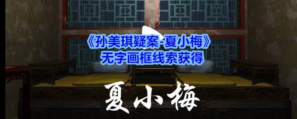 《孙美琪疑案-夏小梅》无字画框线索获得