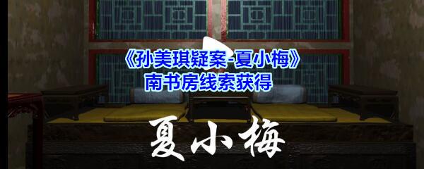 《孙美琪疑案-夏小梅》南书房线索获得