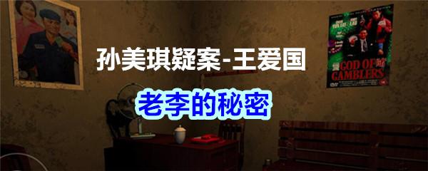 《孙美琪疑案-王爱国》老李的秘密线索获得