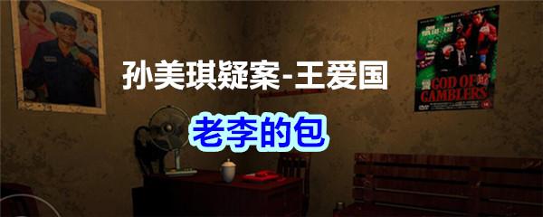 《孙美琪疑案-王爱国》老李的包线索获得