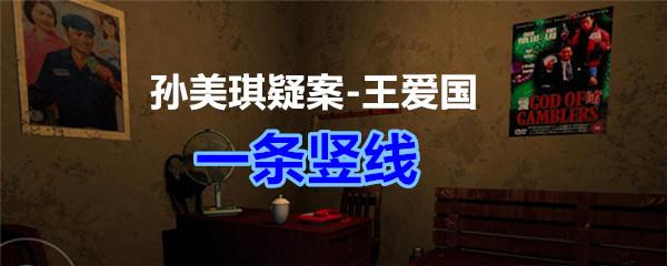 《孙美琪疑案-王爱国》一条竖线线索获得