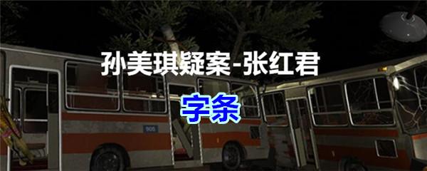 《孙美琪疑案-张红君》四级线索——字条