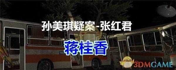《孙美琪疑案-张红君》二级线索——蒋桂香
