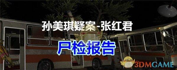 《孙美琪疑案-张红君》二级线索——尸检报告