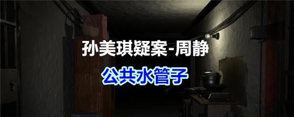 《孙美琪疑案-周静》五级线索——公共水管子