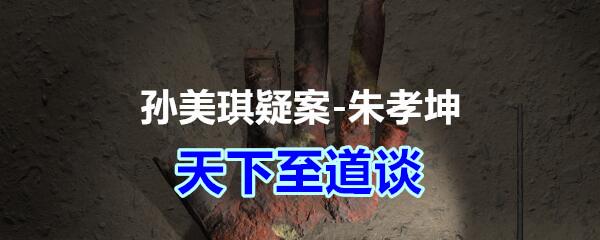 《孙美琪疑案-朱孝坤》五级线索——天下至道谈