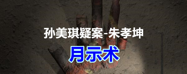 《孙美琪疑案-朱孝坤》四级线索——月示术