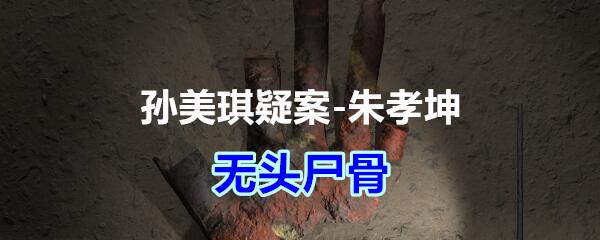 《孙美琪疑案-朱孝坤》三级线索——无头尸骨