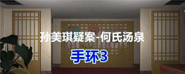 《孙美琪疑案-何氏汤泉》五级线索——手环3