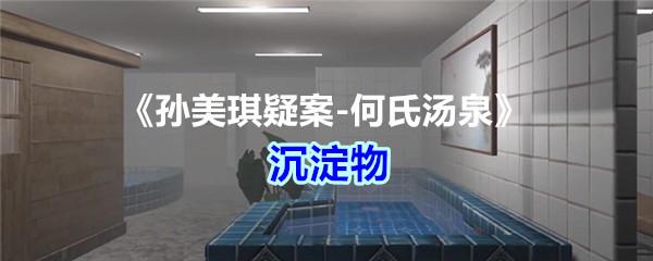 《孙美琪疑案-何氏汤泉》五级线索——沉淀物