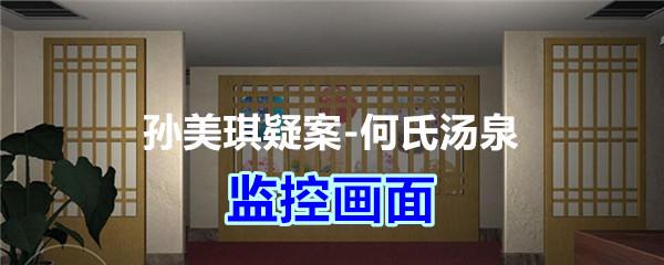 《孙美琪疑案-何氏汤泉》四级线索——监控画面
