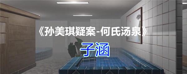 《孙美琪疑案-何氏汤泉》四级线索——子涵