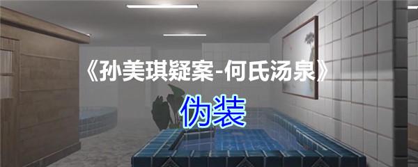 《孙美琪疑案-何氏汤泉》三级线索——伪装