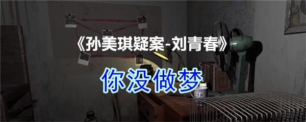 《孙美琪疑案-刘青春》四级线索——你没做梦