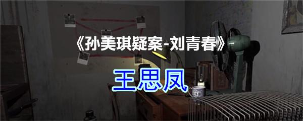 《孙美琪疑案-刘青春》四级线索——王思凤