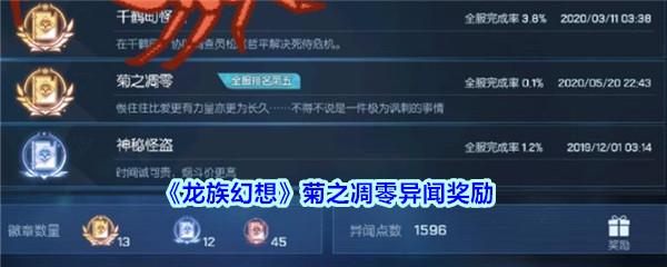 《龙族幻想》菊之凋零异闻奖励