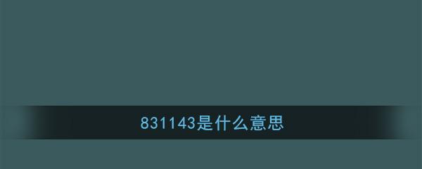 831143是什么意思
