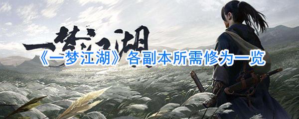 《一梦江湖》各副本所需修为一览