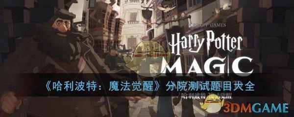 《哈利波特:魔法觉醒》分院测试题目大全