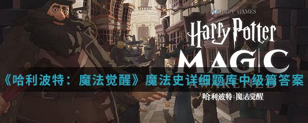 《哈利波特:魔法觉醒》魔法史详细题库中级篇答案大全分享