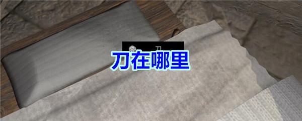《孙美琪疑案-宋明朝》五级线索——刀