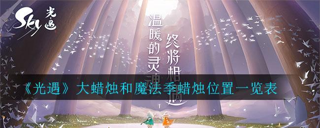 《光遇》大蜡烛和魔法季蜡烛位置一览表