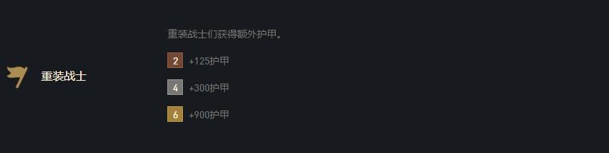 《云顶之弈》10.16重装战士羁绊介绍