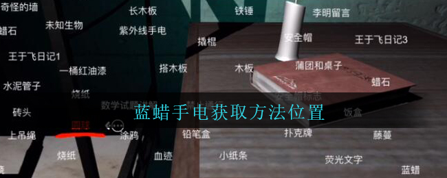 《孙美琪疑案:兰芝》四级线索——蓝蜡手电