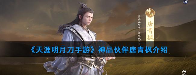 《天涯明月刀手游》神品伙伴唐青枫介绍