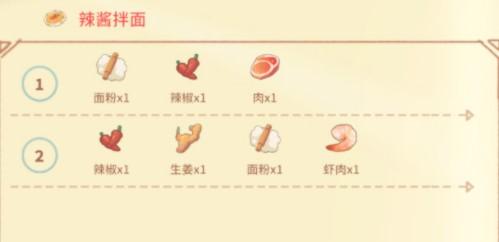 《波西亚时光》辣酱拌面菜谱烹饪配方介绍