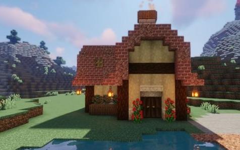《我的世界》童话风红砖房建造教程