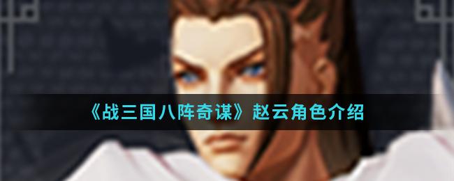 《战三国八阵奇谋》赵云角色介绍